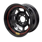Bassett 15 x 7 x 3.75 DOT Black 5 on 4-3/4 Wheel