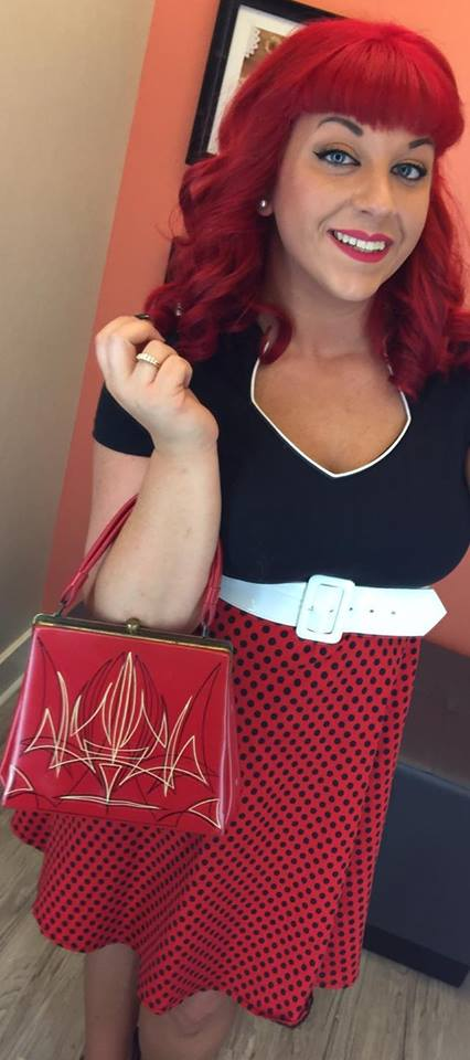grease and grace, pinup, purse, rockabilly, retro, vintage, custom, kustom, hand painted, painted purse, hot rod, pin up girl, fashion, accessories, handbag