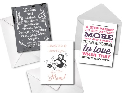 grease and grace, greeting cards, mom card, dad card, step mom card, stepdad card, step dad card, stepmom card, mothers day, fathers day, birthday card, card