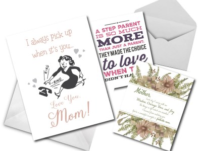 grease and grace, greeting cards, mothers day, mothers day card, stepmother card