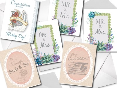 greeting card, grease and grace, wedding card, card fro couple, engagement card, bridal shower card