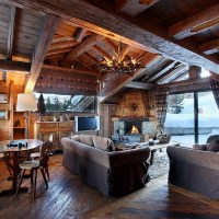 Cozy Winter Living Room on Great Atmosphere