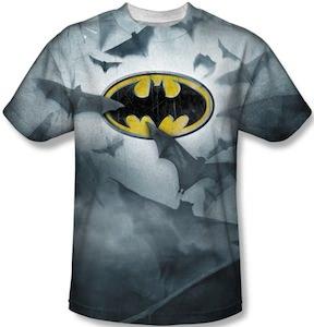Batman Logo And Flying Bats