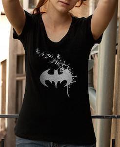 Flaky Batman Logo T-Shirt