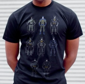 Batman Batsuits T-Shirt