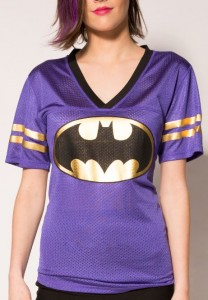 Batman Gold Foil Logo Jersey T-Shirt