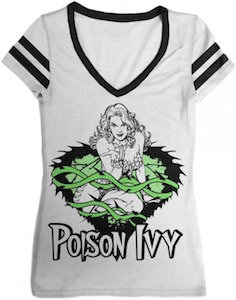 White Poison Ivy Women's Jersey Style T-Shirt