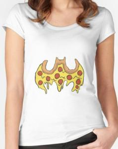 Pizza Bat Symbol T-Shirt