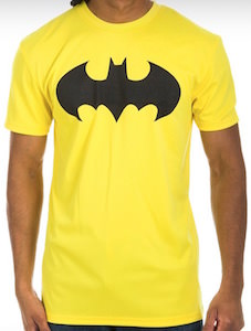 Yellow Batman Logo Workout T-Shirt