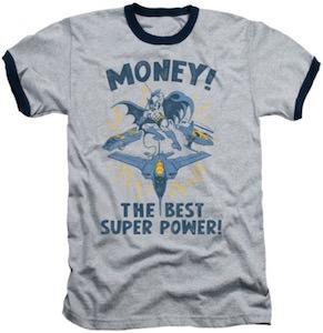 batman money the best super power t shirt. Black Bedroom Furniture Sets. Home Design Ideas