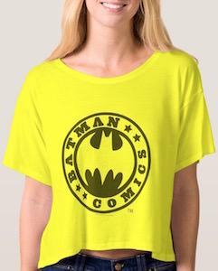 Batman Comics Women's Crop Top T-Shirt