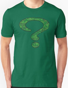 The Riddler Spray Painted Logo T-Shirt