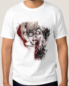 Harley Quinn And The Joker One Face T-Shirt