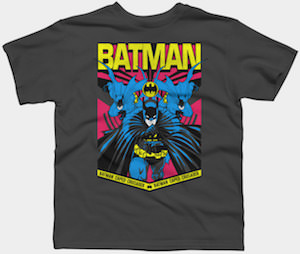 Kids Batman Caped Crusader T-Shirt