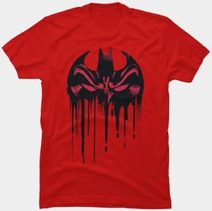 Dripping Paint Batman Logo T-Shirt