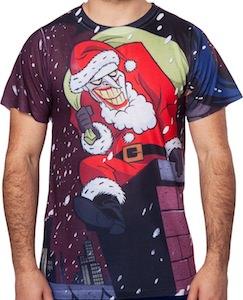 The Joker As Santa Claus T-Shirt