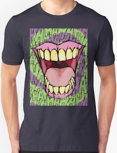 The Joker Smiling Teeth Laughing T-Shirt