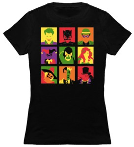 Batmans Villains In Squares T-Shirt