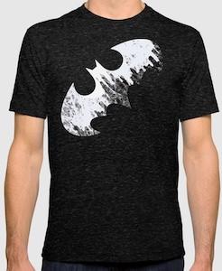 Batman Logo And Skyline T-Shirt