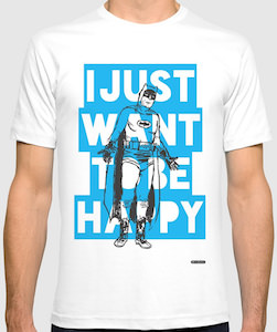 Batman I Just Want To Be Happy T-Shirt