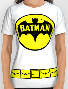 White Batman Costume T-Shirt
