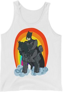 Batman On A Unicorn Tank Top
