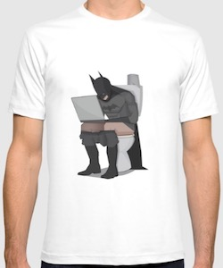 Batman On The Toilet T-Shirt