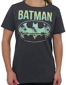 Women's Batman Beach Logo T-Shirt