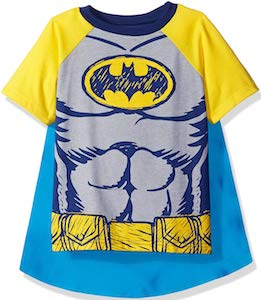 Kids Batman Costume T-Shirt With Cape