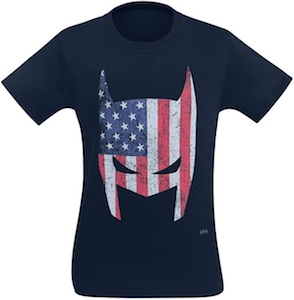 US Flag Batman Mask T-Shirt