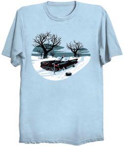 Batmobile Stuck In The Snow T-Shirt
