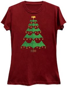 Batman Logo Christmas Tree T-Shirt