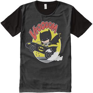 Cartoon Batman In Batmobile T-Shirt