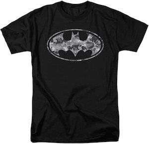 Lots of Gray Batman Logo T-Shirt
