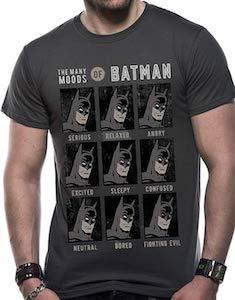 The Many Moods Of Batman T-Shirt