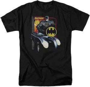 Batman and Batmobile T-Shirt