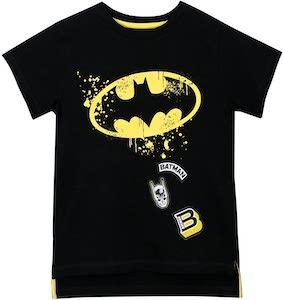 Kids Batman Logo And Patches T-Shirt