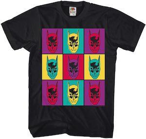 Pop Art Batman Faces T-Shirt
