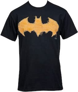 Stitched Batman Logo T-Shirt.