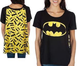 Women's Batman Logo T-Shirt With Cape