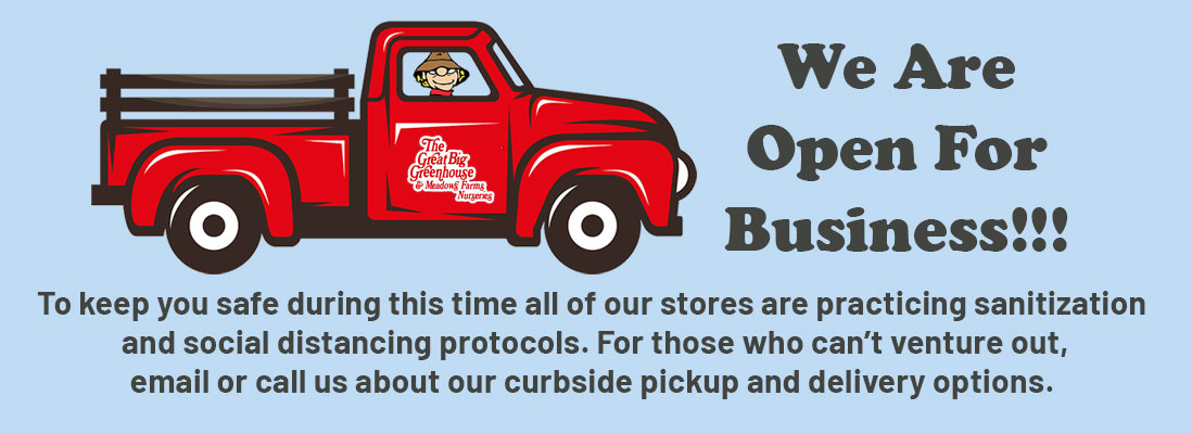 We Are Open For Business!!! To keep you safe during this time all of our stores are practicing sanitization and social distancing protocols. For those who can't venture out, email or call us about our curbside pickup and delivery options.