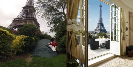 camping under the Eiffel Tower