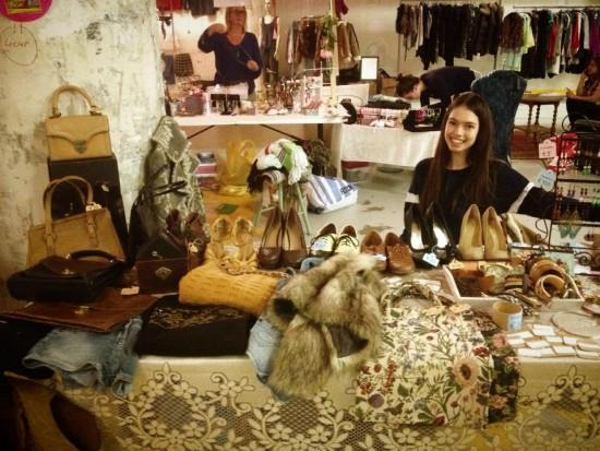 Annewil in her vintage guerilla shop