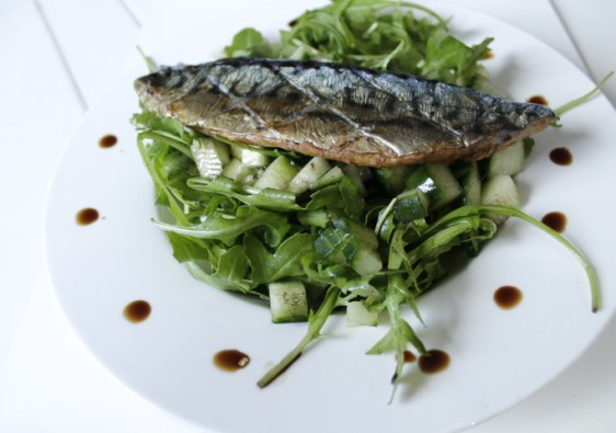 Paleo Mackerel-Rocket Salad { Gluten Free }