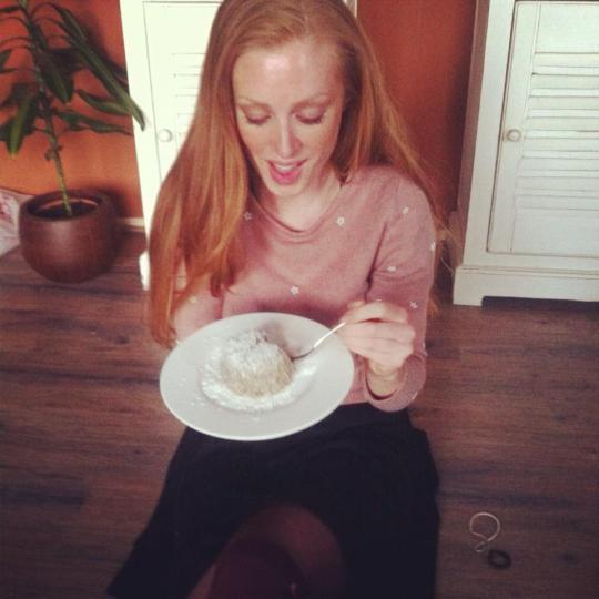 Ejoying my paleo coconut-chia pudding
