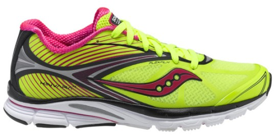 Fluoresent yellow Saucony Kinvara 4 women running shoe