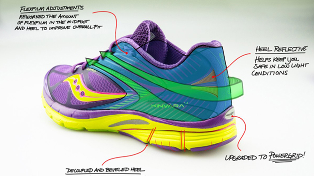 Sneak peek at the colorful Kinvara 4 women's natural running shoe