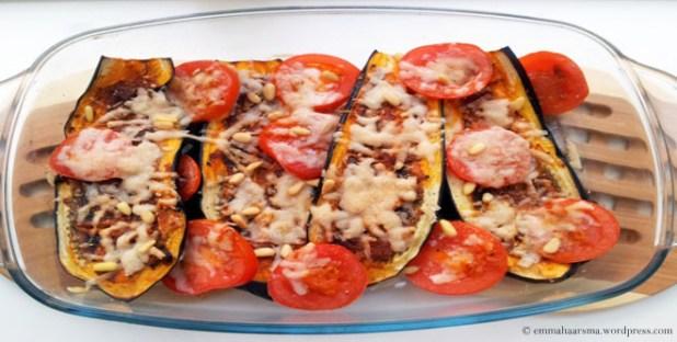 Oven Roasted Cheesy Eggplant