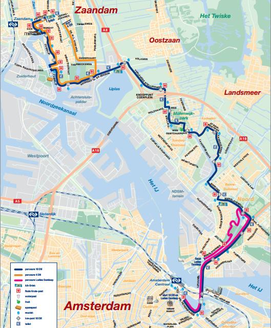 Dam Tot Damloop 10 mijl 16.1 K parcours