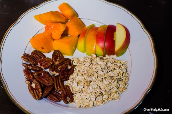 Simple Pumpkin Oatmeal With Pecan